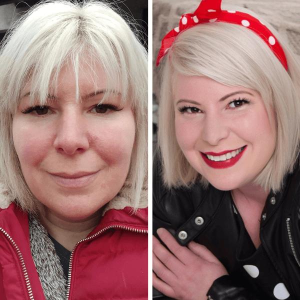 Színtanácsadás előtt és után - Páros tanácsadás anya-lánya