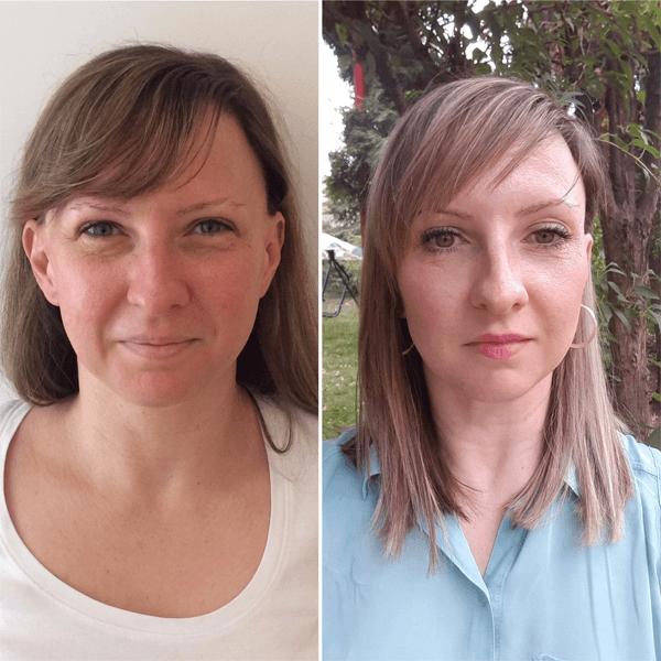 Színtanácsadás előtt és után - Szabó Rita